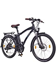 "NCM Essen,26"" Zoll Elektrofahrrad Herren/Damen Unisex Pedelec,E-Bike,City Rad, 36V 250W 13Ah Lithium-Ionen-Akku mit 468Wh, matt schwarz"