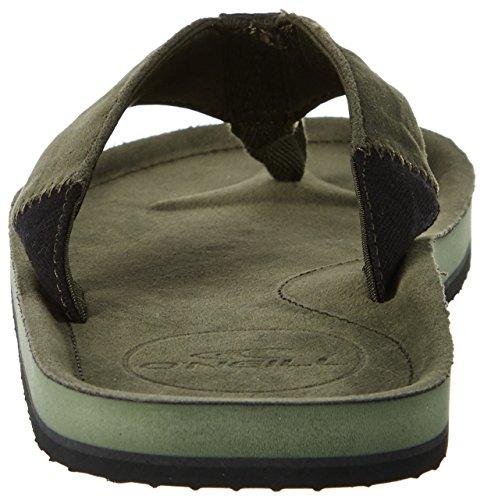 O'Neill Fm Chad Flip Flops, Chaussures de Plage et Piscine Homme Grün (Olive Leaves)