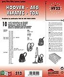 HV 22 sacchetti per aspirapolvere confezione da 10 sacchi carta