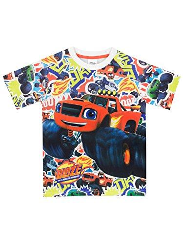 Blaze and the monster machines - maglietta a maniche corta ragazzi - blaze e le mega macchine - 4 - 5 anni