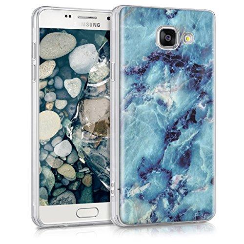 kwmobile Funda para Samsung Galaxy A5 (2016) - forro de TPU silicona cover protector para móvil - Case Diseño Piedra preciosa azul