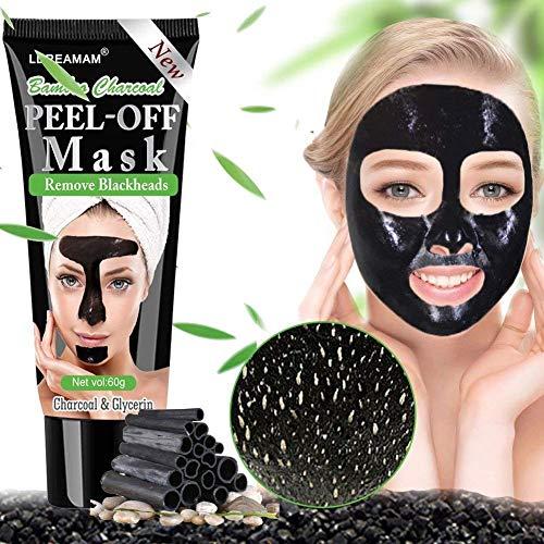 Black mask,maschere viso,peel off mask,maschera nera,rimuovere punti neri, aspirazione face nose clear acne blackhead mask (60g)
