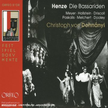 Henze - Die Bassariden, opera seria d'après