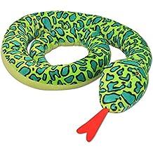 Festnight Serpiente de Peluche - Color de Verde Material de Poliéster, ...
