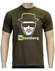Coole-Fun-T-Shirts - Camiseta de Heisenberg, logo con cabeza