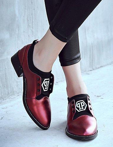 WSS 2016 Chaussures Femme-Extérieure / Bureau & Travail / Habillé / Décontracté-Noir / Bordeaux-Gros Talon-Confort / Nouveauté / Gladiateur / black-us5.5 / eu36 / uk3.5 / cn35
