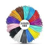 VICTORSTAR Stylos 3D Filaments Recharges ABS 14 Couleurs 140 Mètres (459ft) / 12 Couleurs + 2 Couleurs Brillent dans Le Noir/Diamètre 1.75mm 10 Mètres(32.8ft) Chaque Roll