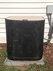 Air Conditioner Covers - Winter Full AC Cover - waterproof top - PREMIER - 24x24x24ht - Almond Top/black Sides