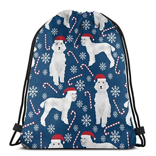 ngen Zuckerstangen Süße Pudel Hunde Süße Schneeflocken Pudel Süße Hunde_619 Rucksack Rucksack Umhängetaschen Leichte Sporttasche zum Wandern Yoga Gym Schwimmen Reisen Strand ()