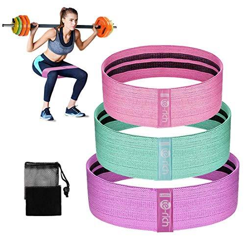 Te-rich set elastici fitness bande elastiche di resistenza per glutei gambe allenamento 3 pezzi,rapida combustione dei grassi, modellando gamba e fianchi perfetti