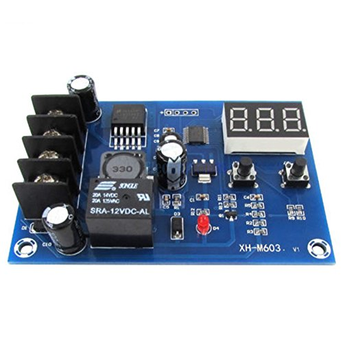 SODIAL Scheda di controllo carica batteria, scheda di protezione ricarica, interruttore di protezione regolatore di carica per batteria al piombo DC12-24V e batteria al litio