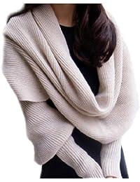 Decus 1 Damen Strick-Capes Halstuch in Beige aus Baumwoll