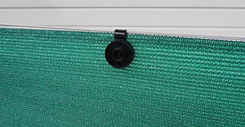 fixations-pour-brise-vue-traitees-anti-uv-40-pinces-vert