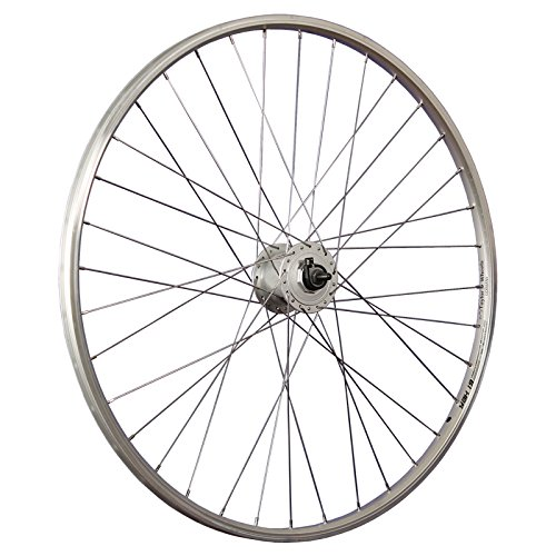 Taylor-Wheels 28 Zoll Vorderrad Alu Holkammerfelge YAK19 / Shimano DH-C3000 Nabendynamo - Silber