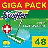 Swiffer Vloerwisser vochtige vloerdoeken navulverpakking met frisse citrusgeur 48 St, 2968 g