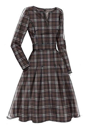Vogue Mustern Misses Kleid mit Rundum Bund, Mehrfarbig, Größe 6-14 - Bild 4