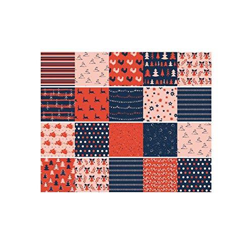 JRTILES Stickerfliesen 20X20Cm X 20 Stück - Fliesenaufkleber Fliesenfolie - Fliesen-Sticker Folie Aufkleber Selbstklebende - Fliesenbilder Für Badezimmer Küche Deko - Thema Weihnachten