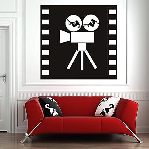 Filmkamera Weibliches Design Kino TV & Film Wandsticker Heim Dekor Art Decals verfügbar in 5 Größen und 25 Farben Groß Blatt Grün