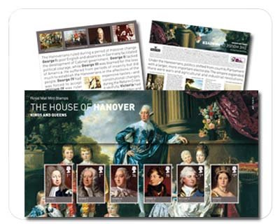 2011 The House of Hanover Stamps in Presentation Pack by Royal Mail Castle Court Castle