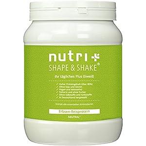 Nutri-Plus Erbsen-Reisprotein – Veganes Proteinpulver ohne Soja, Gluten, Laktose und Aspartam – Hypoallergen