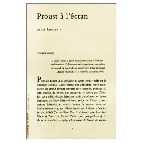 Proust a l' Ecran