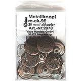 8 Metall Knöpfe altkupfer 20 mm