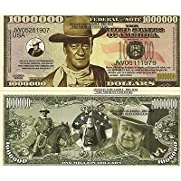 Novelty Dollar John Wayne The Duke Cowboy Million Dollar Bills X 2 New