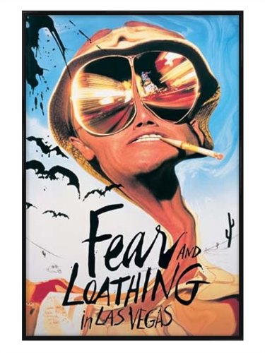 Fear & Loathing glänzendes schwarz eingerahmtes Johnny Depp Poster 61x91,5cm