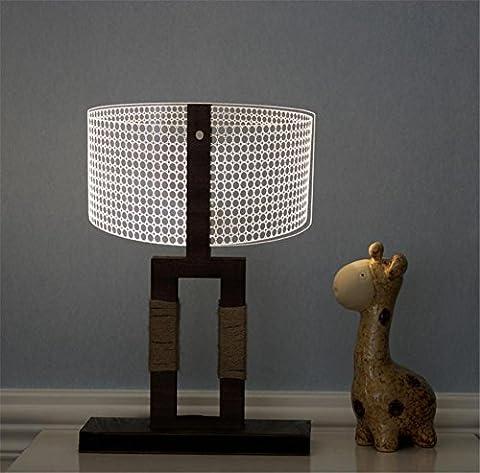 H&M Lampes de bureau Ambiance Lampe Lampe de chevet étudiant Lampe de bureau Régulateur de luminosité Niveaux de luminosité Salon de soins de la vue chambre à coucher Butterfly 3D lampe de table en bois massif acrylique