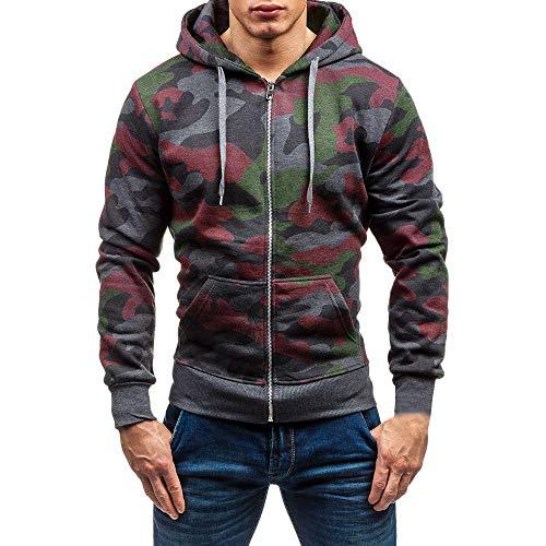 Hoodie Männer Sweatshirt Herren Coat Sweater Outwear Sweatjacke Parka Cardigan Lässige Mantel Kapuzenpulli Pulli Pullover Langarmshirts Jacke Hooded Blazer Top
