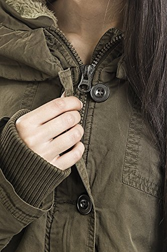 Urban Classics Damen Jacke Ladies Garment Washed Long Parka Grün (Olive 00176)