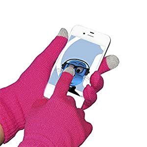 Pink Unisex Full Finger One Size TouchTip TouchScreen Winter Gloves For Motorola QUENCH