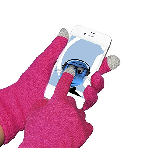 Rosa Unisex Full Finger One Size TouchTip TouchScreen Winterhandschuhe für HTC P3600i