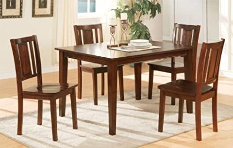 Poundex Chic Modern F2249 Dark Cherry Finish 5 Piece Dining Set Contemporary by Poundex