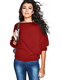 Chandail Femme Hiver Chic, Koly Chandail en Tricot Manche Longue Pull  Sweater Femme Chaud Haut eb12c00ed88c