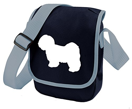 Bag Pixie - Borsa a tracolla unisex adulti Lhasa White on Blue