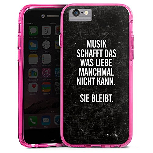 Apple iPhone X Bumper Hülle Bumper Case Glitzer Hülle Sayings Phrases Sprüche Bumper Case transparent pink