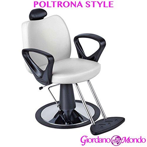 Poltrona barbiere con poggiapiedi a pompa idraulica girevole sedia style arredamento ceriotti