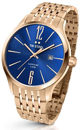 TW STEEL Unisex-reloj analógico de cuarzo funda chapado en acero inoxidable TW-1309