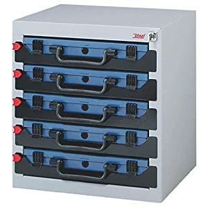 DINZL-ORDNUNGSTECHNIK GMBH 975775 Tresor 5F stapelbar 416x256x434mm f.Sortimentskasten m.Schaumstoff
