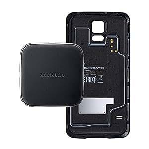 Samsung Wireless Charging Kit Induktive Ladestation mit Case für Samsung Galaxy S5 - Schwarz