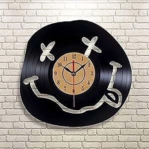 Dwthh Odora di Spirito Adolescenziale Orologio da Parete in Vinile Art Gift Room Modern Home Record Decorazione Vintage Orologio da Parete