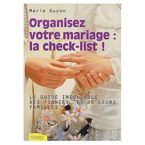 Organiser un mariage : Check-list