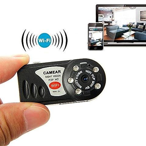 LeaningTech Mini caméra de surveillance sans fil HD WiFi P2P Mini caméra IP Sécurité 32 Go Carte TF carte mémoire 8 Go pour Android IOS PC