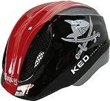 KED Unisex Fahrradhelm Meggy Original, Mehrfarbig (Capt'N Sharky Black Red) , 49-55