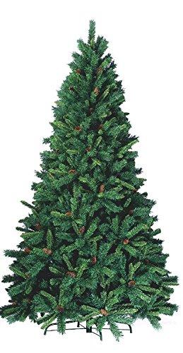 Decorazioni Natalizie Con Pigne E Candele.Albero Di Natale 210cm H Morris Folto Con Pigne Alberi