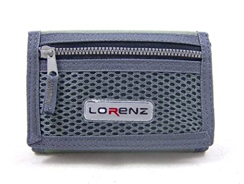 MENS BOYS TRIFOLD SPOTRS WALLET WITH ZIP AND BELT CLIP