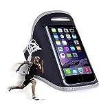 Sportarmband für Handys & Smartphones / Jogging- und Laufarmband / Für Handygrößen von 152x73x7mm bis 158x77,9x9,6mm / grau