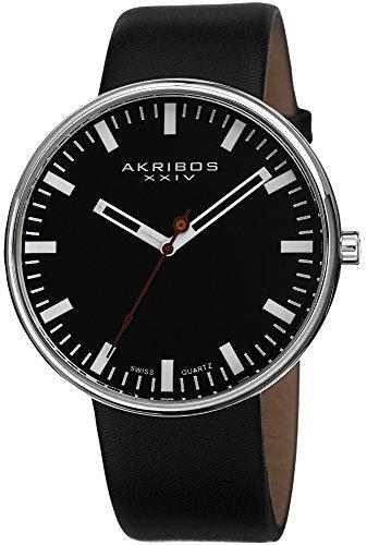 Akribos XXIV Herren Analog Quarz Uhr mit Edelstahl Armband AK733SSB