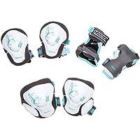 Powerslide Pro Pure 903201/4 - Juego de rodilleras para mujer (talla M, 3 piezas), color blanco